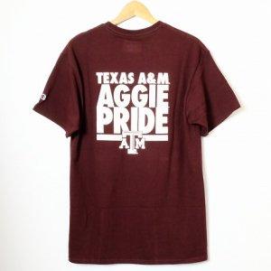 Champion USAチャンピオン・カレッジモデル国内未発売・テキサス大学 Texas A&Mバックプリント・半袖Tシャツ