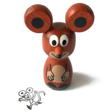 クルテク木製スタンプ ネズミ