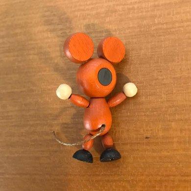 クルテク木製マグネット ネズミ