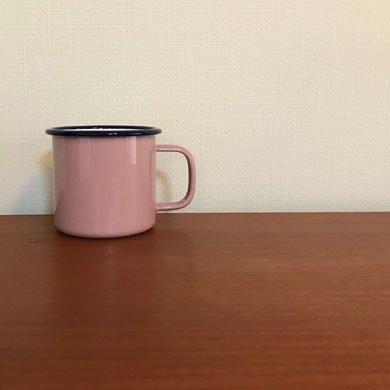 シャスタ ホーローマグカップ ピンク
