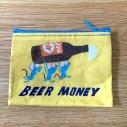BLUE Qコインパース BEER MONEY