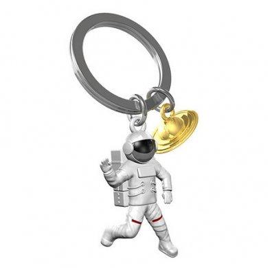 ベルギーデザイン メタルキーチェーン 宇宙飛行士&土星