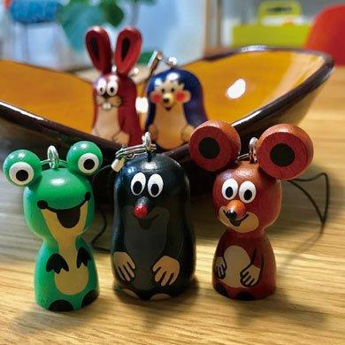 クルテク木製ストラップ ネズミ