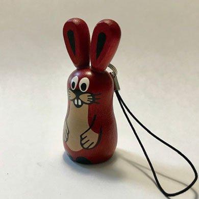 クルテク木製ストラップ ウサギ