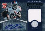PANINI 2012 TOTALLY CERTIFIED JERSEY AUTOGRAPH CARD David Wilson / 新宿店 オッズブレイカーH様