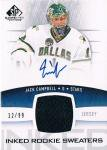 UD 2013-14 SP GAME USED RELIC AUTOGRAPH CARD Jack Campbell【99枚限定】/ 新宿店 ミヤケン様★