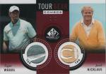 2014 UD SP GAME USED TOUR GEAR COMBOS Tiger Woods & Jack Nicklaus 【2枚限定】 渋谷店 コジラ様
