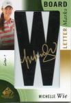 2014 SP Game Used Golf Set Board LetterMarks Card Michelle Wie 【15枚限定】 梅田店 だびる優様