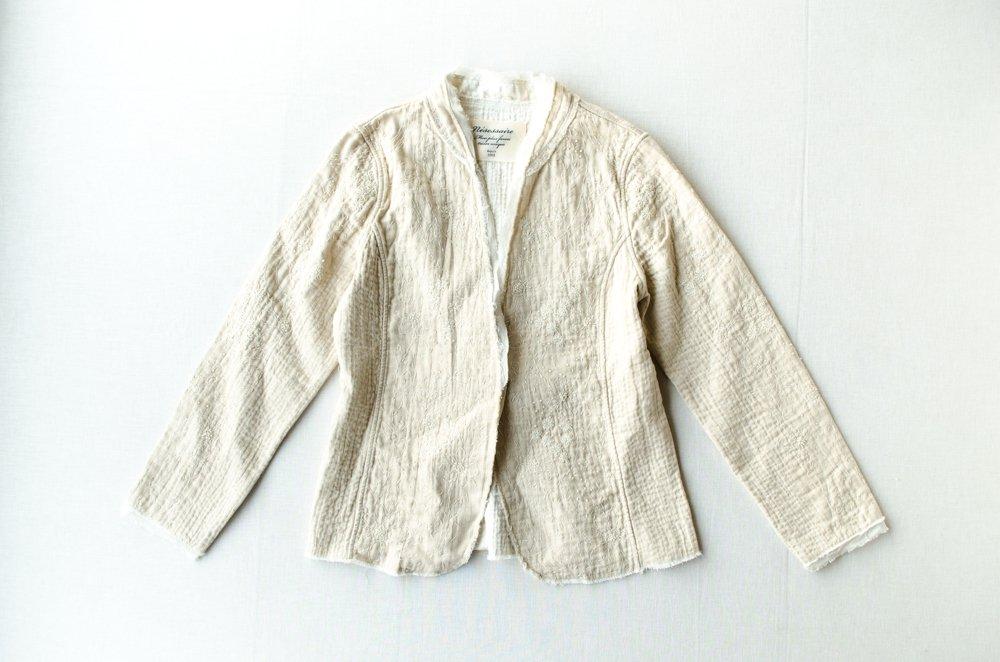 nesessaire  カンタ刺繍ジャケット ベージュ