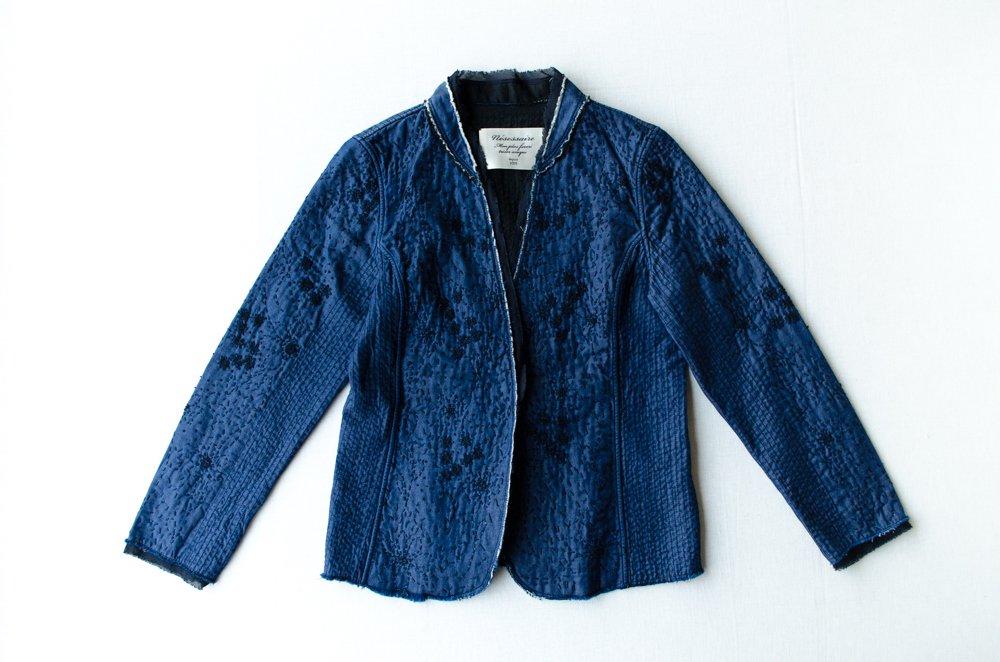 nesessaire  カンタ刺繍ジャケット ブルー