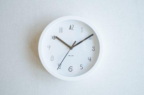 松尾ミユキ 壁掛け時計S ホワイト
