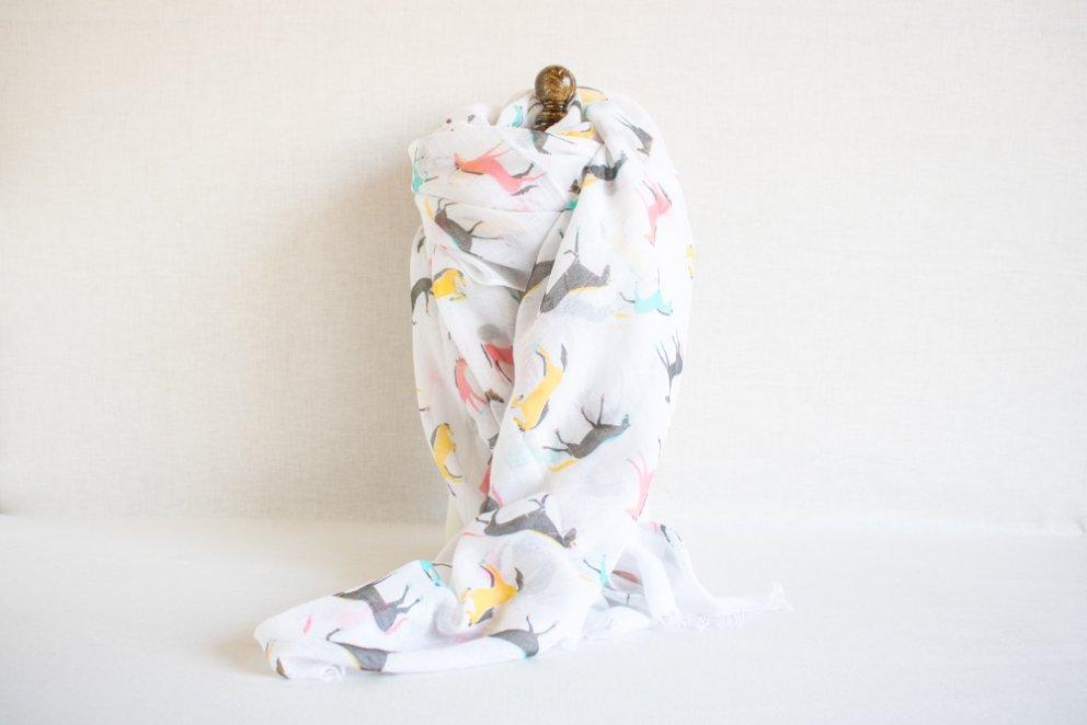 スカーフ ホース ホワイト