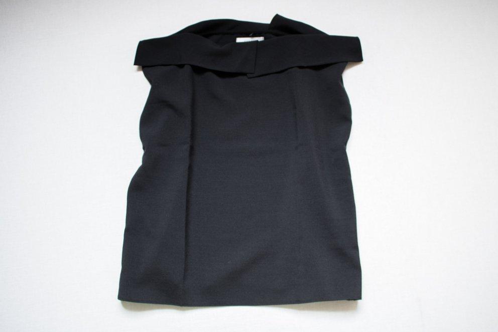 フリル襟ブラウス ブラック