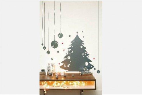 Les Invasions Ephémères ウォールステッカー クリスマスツリー グレー