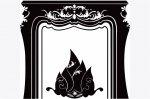 【送料無料でお届け】 Les Invasions Ephémères ウォールステッカー Grande マントルピース ブラック