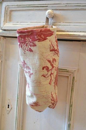 France Fabric*レジ袋ストッカー レッド