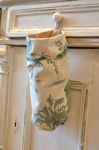 France Fabric*レジ袋ストッカー グリーン
