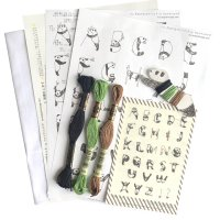 [数量限定]パンダアルファベットの刺繍キット