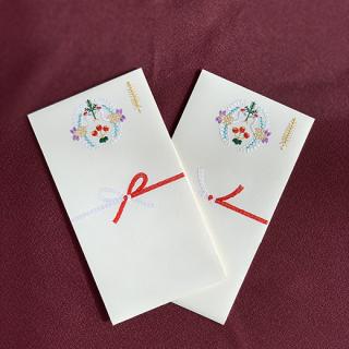 紙刺繍のし袋