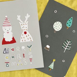 クリスマス紙刺繍キット