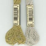 DMC ラメ刺繍糸 5番 金・銀