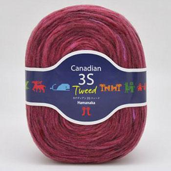 ハマナカ毛糸 カナディアン 3S ツィード
