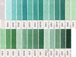 DMC刺繍糸 25番 緑・黄緑色系