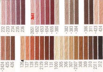 コスモ刺繍糸 25番 茶・オレンジ色系
