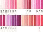 オリムパス刺繍糸 5番 ピンク・赤色系