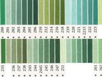 オリムパス刺繍糸 5番 緑・黄緑色系