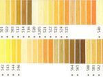 オリムパス刺繍糸 5番 黄色・橙色系
