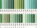 オリムパス刺繍糸 25番 緑・黄緑色系