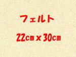 フェルト 22cmx30cm