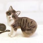 ハマナカ フェルト羊毛キット 猫