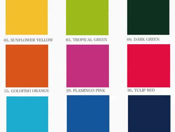 染料・染め粉 色の種類 色別
