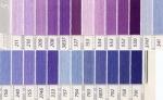 DMC 25番 刺繍糸 紫・青色系