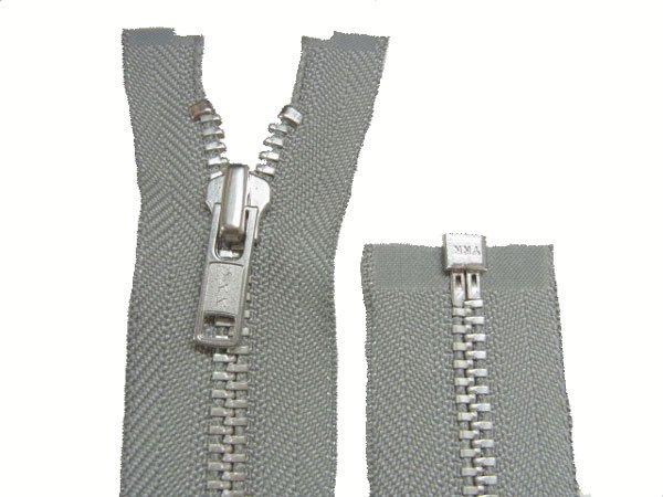 YKK 金属 オープンファスナー 50cm col.577 グレー 【参考画像2】