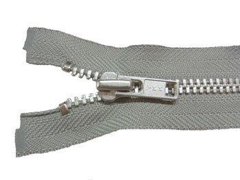YKK 4YAN 金属 オープンファスナー 60cm col.577 グレー