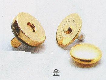 ハマナカ カシメ式マグネット付丸型ホック 14mm H206-047-1 5個セット 【参考画像1】