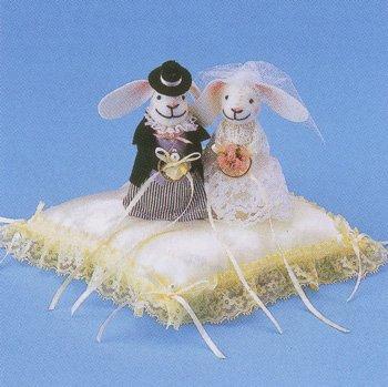 パナミ ウサギのリングピロー RP-3 クリーム ウエディング作成キット