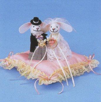 パナミ ウサギのリングピロー RP-4 ピンク ウエディング作成キット