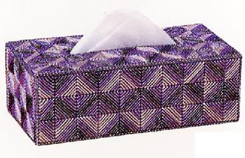 パナミ メタリックヤーン ティッシュカバーパート� TC-4 紫