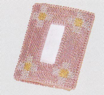 パナミ メタリックヤーン ポケットティッシュケース #4467 カラー ピンク