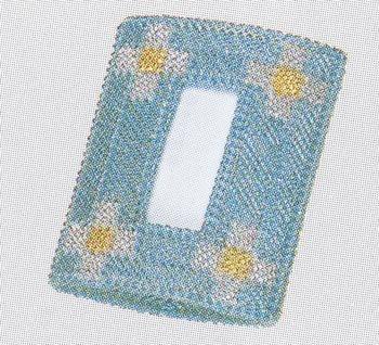 パナミ メタリックヤーン ポケットティッシュケース #4468 カラー ブルー