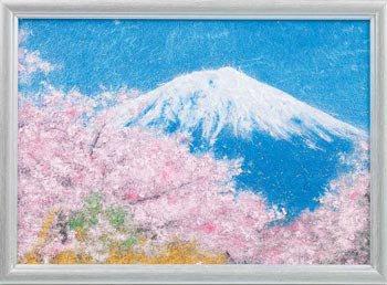 パナミ メタリックアート MA-1 富士山  糸の貼り絵