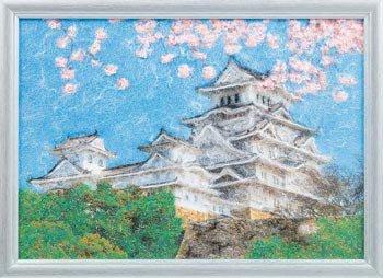 パナミ メタリックアート MA-2 お城  糸の貼り絵