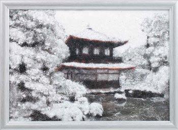 パナミ メタリックアート MA-5 銀閣寺  糸の貼り絵