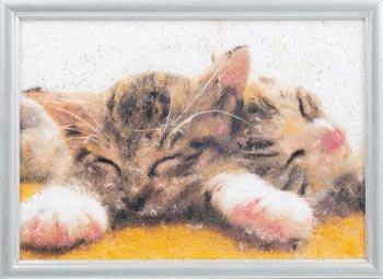 パナミ メタリックアート MA-6 ネコ 糸の貼り絵