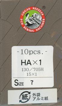 オルガンミシン針 HAx1 #7 超薄地用 10本入