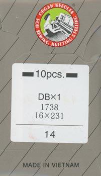 オルガンミシン針 DBx1 #14 中厚地用 職業用・工業用ミシン専用